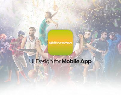 Stowis Sportwetten UI App Design