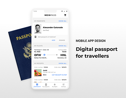 MAINPASS - Mobile App Design