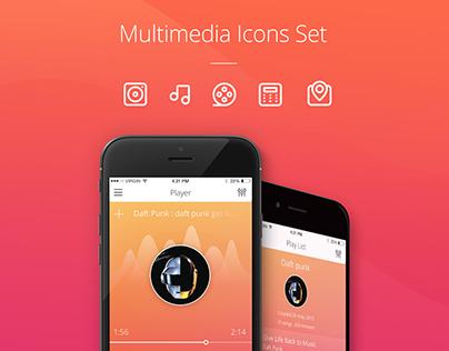 Multimedia Icons Presentation