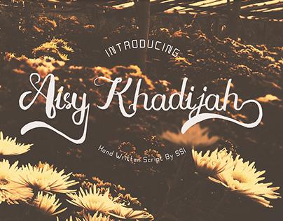 Free # Aisy Khadijah Handwritten script fonts