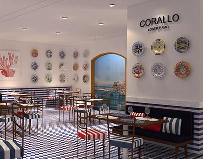 CORALLO lobster bar render training