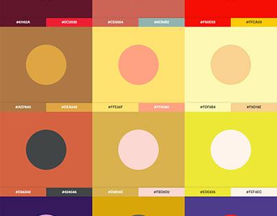 225 Trendy Color Palette #2018