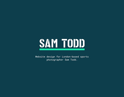 Sam Todd Photography Website Design