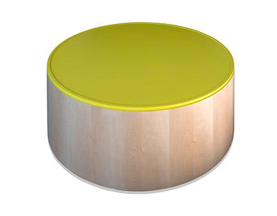 Polygon Storage - Cylinder Coffee Table