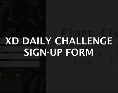 Sign-Up Form - XD Daily Creative Challenge