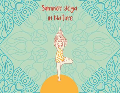 Summer Yoga Poster & Social media