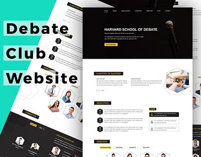 Debate club Website