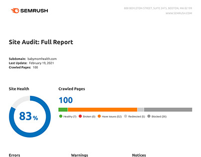 Website Audit with Competitors Analysis