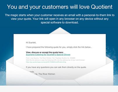 QuotientApp website copy