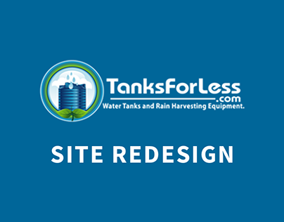 Tanks For Less Website, Early Version