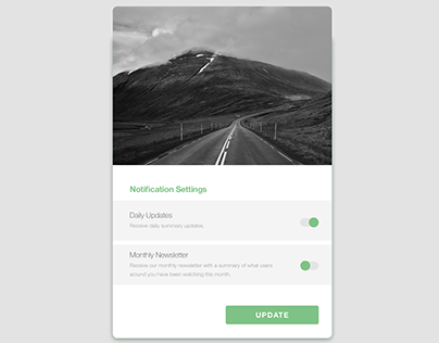 Receive Updates, UX Design, UI Design, Buttons