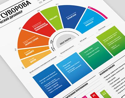 Infographic Visual Resume | Резюме