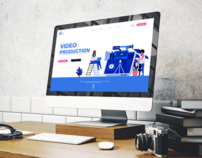 Video production first screen website design