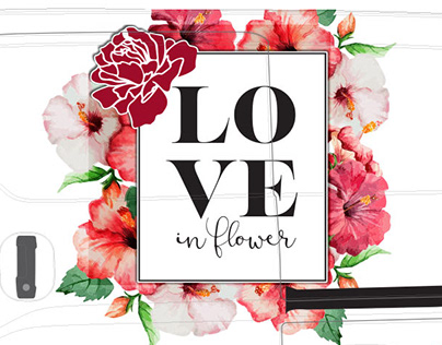 Love in Flower Vehicle Graphics