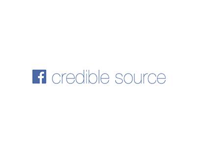 Facebook Credible Source