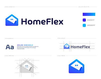 homeflex logo design