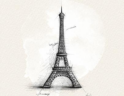 croquis architecture d'Europe
