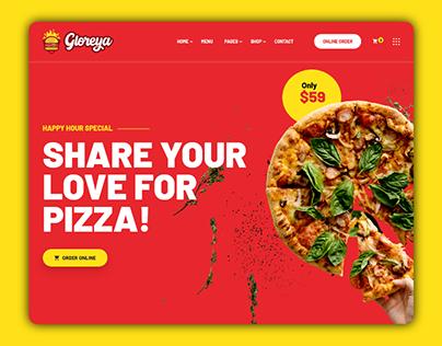 Gloriya - Resturant Website Template
