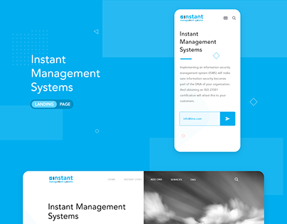 Landing page for InstantManagementSystems.com