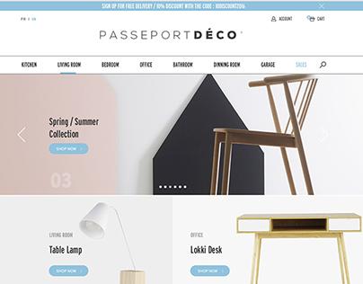 Passeport Deco - Web Design