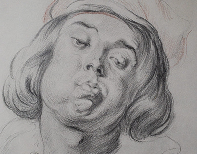 A copy of the drawing from the work of Jacob Jordaens