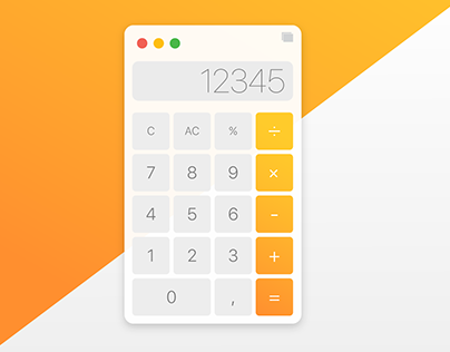 MacOS Calculator Concept