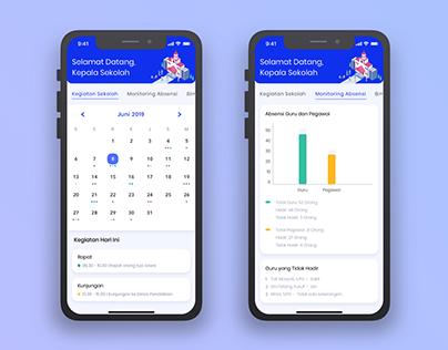E-Learning App - Dashboard Headmaster