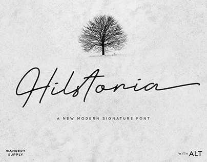 Try and Download Hilstoria Signature Typeface