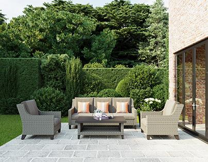 Peaceful Outdoor Garden Home | Furniture Rendering