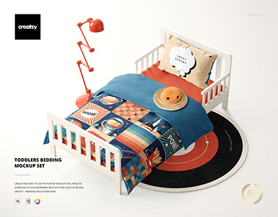 Toddlers Bedding Mockup Set