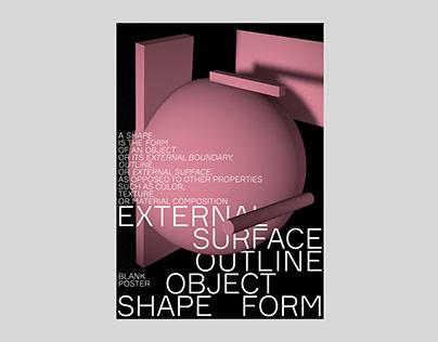 Blank Poster / shape