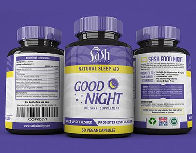 Vegan Supplement Labels Design