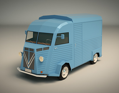 Low Poly Transporter Van