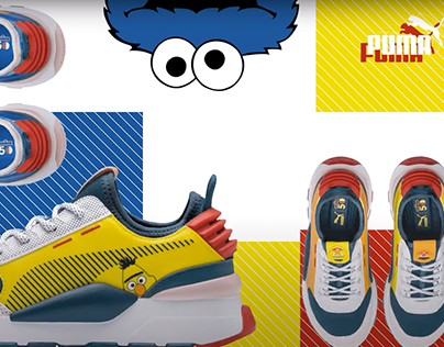 PUMA x Sesame str. Sneaker Collection. Animation clip