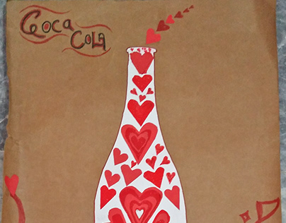 Hand Made Poster of Coca Cola.