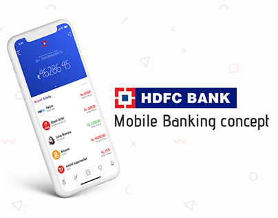 HDFC Mobile banking concept