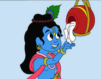 Lord Krishna with Makhan