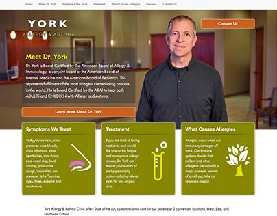 Responsive Web: York Allergy & Asthma