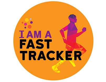 I am Fast tracker - Badge Designs