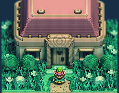 Zelda 3D isometric