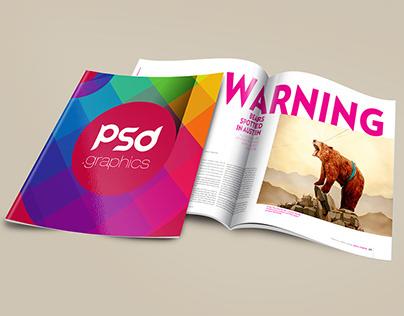 Brochure Magazine Mockup PSD