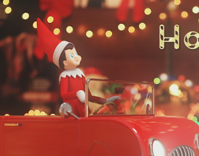 Elf on the Shelf Holiday Greeting