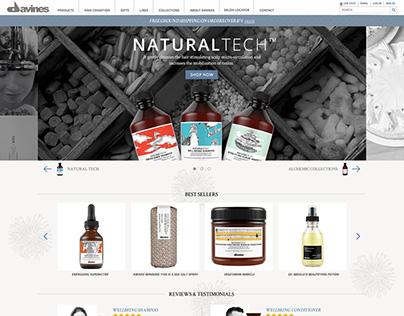 Davines E-Commerce Homepage - Mobile, Tablet & Desktop