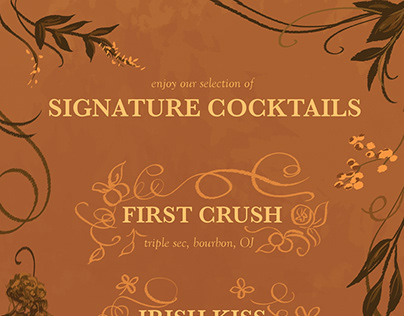Signature Cocktail Selection for a Wedding