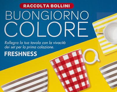 """Raccolta bollini """"Buongiorno Colore"""""""