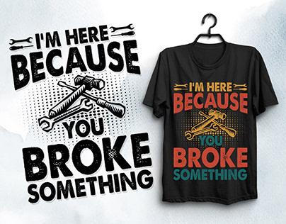 Mechanic Handyman T-Shirt Design