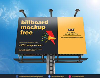 Free PSD - Billboard Mockup 5