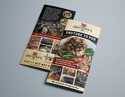 Eye catching brochure needed for Restaurant