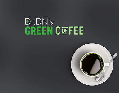 Dr DN's Green Coffee Logo design and packshot