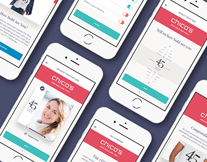 Chico's - How Bold Are You? - UX/UI App